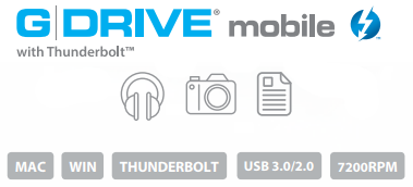 G-DRIVE mobile with Thunderbolt Description